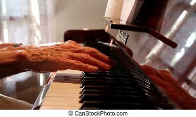 Pianist practice