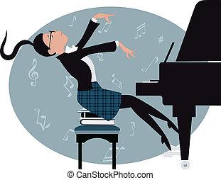 pianista, jovem