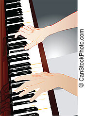 pianiste, mains