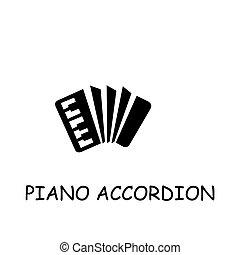 Piano Accordion flat vector icon