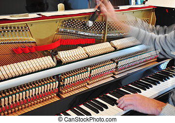 piano, afinando