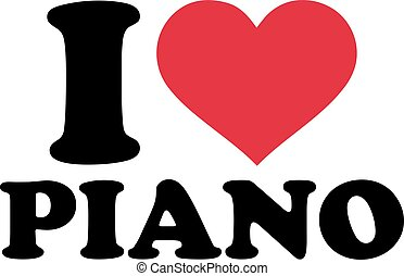 piano, amor