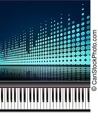 piano and a chair background. vector