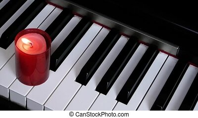 Piano and Candle Light
