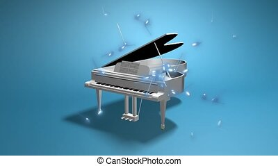 piano, argent