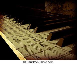 piano, asimiento