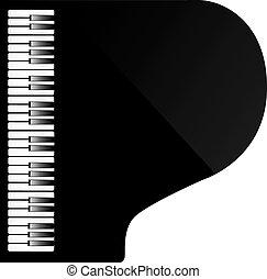 piano, au-dessus