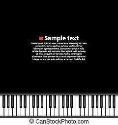 Piano background art music banner
