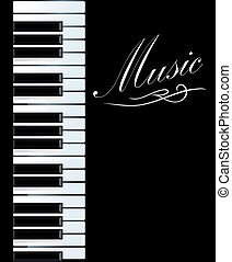 Piano background for musical design. Vector illustration