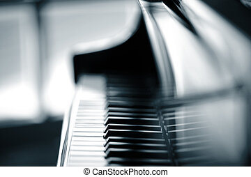 Piano background, shallow DOF.