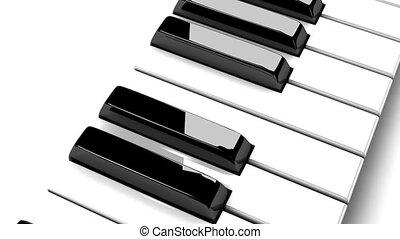 piano, białe tło, klawiatura