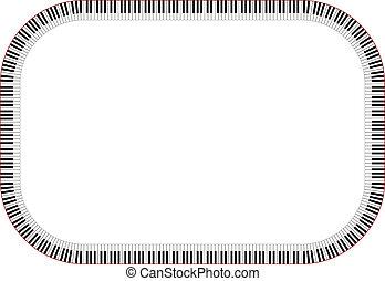 piano, cadre