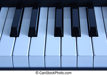 Piano Close-up - Close-up of piano keys