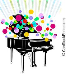 piano, concert, grandiose