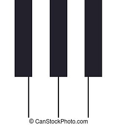 Piano concert poster design. Live music concert. Piano keys. Vector illustration.
