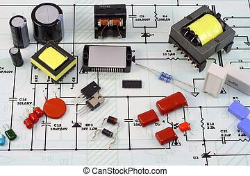 piano, elettronico, elettrico, componenti