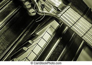 piano, guitarra