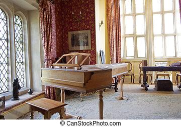 piano, habitación