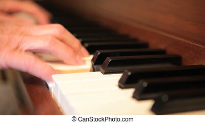 Piano Hands - Woman's hands playing piano