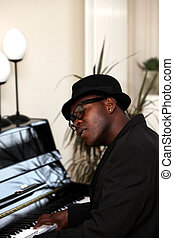 piano, homme