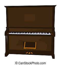 Piano Illustration - Illustration of a piano on a white...