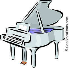 piano, illustration.