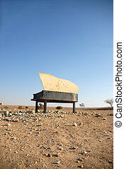 piano in the desert