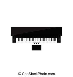 piano instrument music illustration