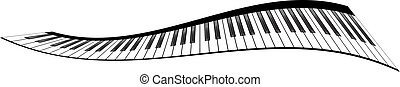 piano, jogo, teclados