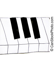 piano key wallpaper in music room
