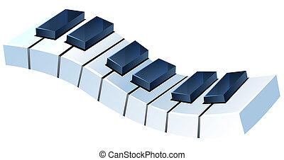 Piano Keyboard - drawing of piano keyboard in a white...