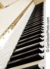 Piano keyboard detail