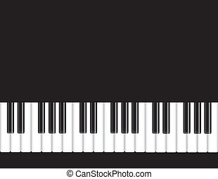 Piano Keyboard Illustration - Piano Keyboards Background...