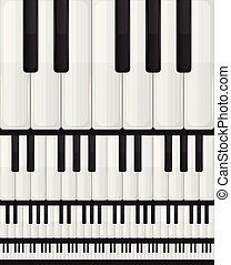 Piano Keyboard Seamless Background
