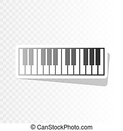 Piano Keyboard sign. Vector. New year blackish icon on...