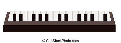 Piano keyboard vector cartoon illustration.