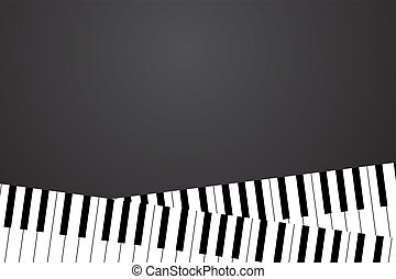 Piano keyboard - Vector piano keyboard on black background...