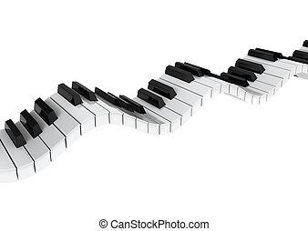 Piano keyboard wave
