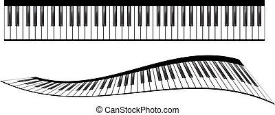 Piano keyboards set - Piano keyboards vector illustrations....