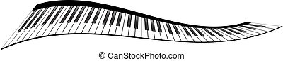 Piano keyboards set - Piano keyboards vector illustrations....