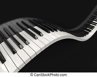 Piano keys (clipping path included) - Digital piano...