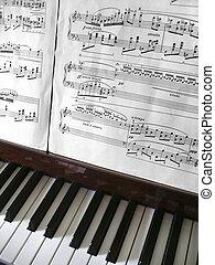 Piano Keys - Close-up detail on piano keys