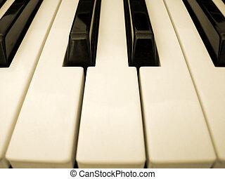 Piano keys - close up of piano keys