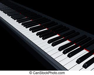 Piano keys - Illustration of a piano reflecting the keys