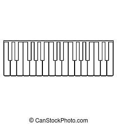 Piano keys icon .