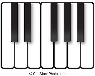 Piano Keys Illustration - Piano keys showing one octave of...