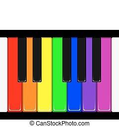 Piano Keys - Rainbow coloured piano keys. Available in jpeg...