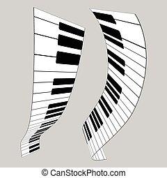 Piano keys, vector illustration for design