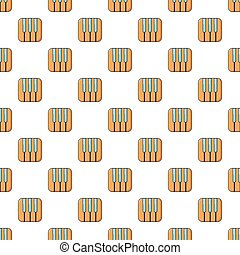 Piano keys pattern seamless
