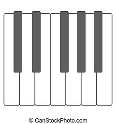 Piano keys vector illustration - Black and white piano keys...